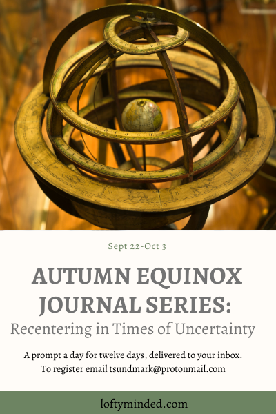 Lost Words, Found Meaning, and an Autumn Equinox Journal Series